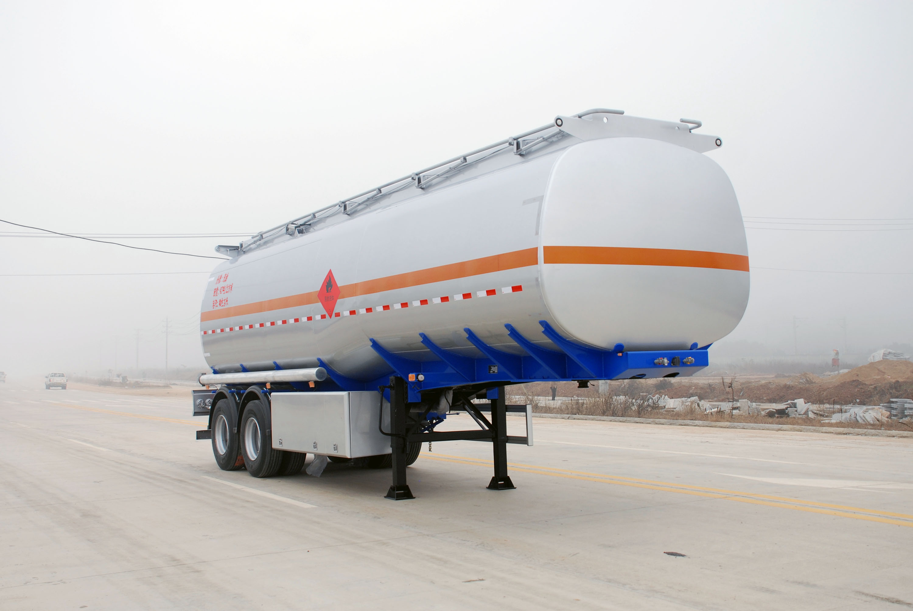 40000L Tandem Axle Stainless Steel Tanker Trailer
